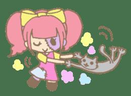 Zombiena and Kuro. sticker #292849