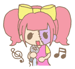 Zombiena and Kuro. sticker #292852