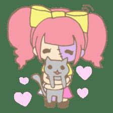Zombiena and Kuro. sticker #292864