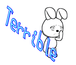 The rabbit which is full of expressions8 sticker #294270