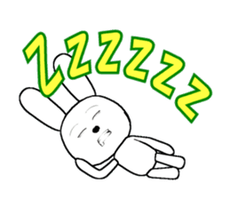 The rabbit which is full of expressions8 sticker #294281