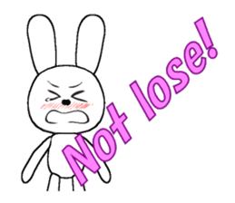 The rabbit which is full of expressions8 sticker #294301