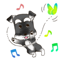 "Miniature Schnauzer ""MOMO"" sticker #294430"