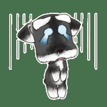 "Miniature Schnauzer ""MOMO"" sticker #294434"