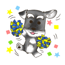 "Miniature Schnauzer ""MOMO"" sticker #294454"