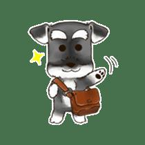 "Miniature Schnauzer ""MOMO"" sticker #294458"