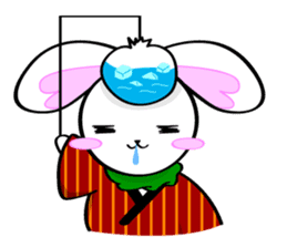 Big rabbit of the ear/Life.ver sticker #294537