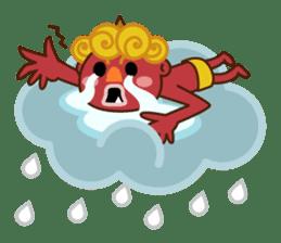 God of thunder! sticker #296831