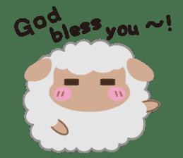 Shalom Sheep sticker #298988