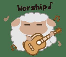 Shalom Sheep sticker #298989