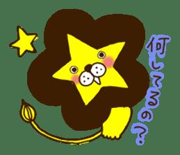 Star lion sticker #300289