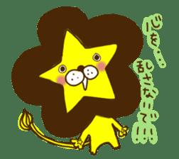 Star lion sticker #300298