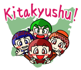 Kitakyukko! English1 sticker #302304