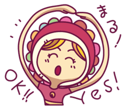 Smile girl sticker #302429