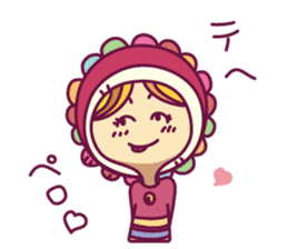 Smile girl sticker #302437