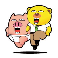 Pp Bear and Pants Pig