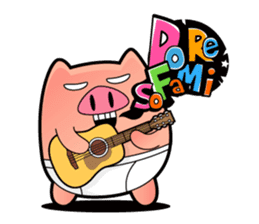 Pp Bear and Pants Pig sticker #302753