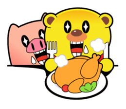 Pp Bear and Pants Pig sticker #302765