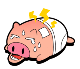 Pp Bear and Pants Pig sticker #302768