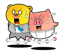 Pp Bear and Pants Pig sticker #302771