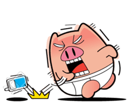 Pp Bear and Pants Pig sticker #302777