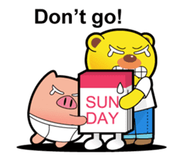 Pp Bear and Pants Pig sticker #302783