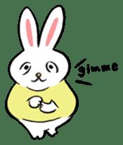 A little fatty-rabbit sticker #302826