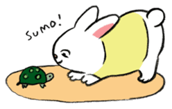 A little fatty-rabbit sticker #302828