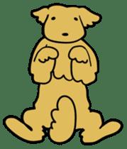 Chobi the GoldenRetriever sticker #303115