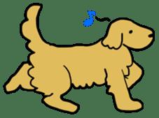 Chobi the GoldenRetriever sticker #303116