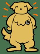 Chobi the GoldenRetriever sticker #303120