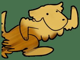 Chobi the GoldenRetriever sticker #303129