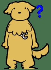 Chobi the GoldenRetriever sticker #303143