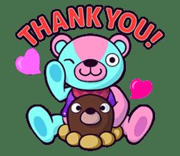 """Cyareguma"", the cool style bear sticker #303585"
