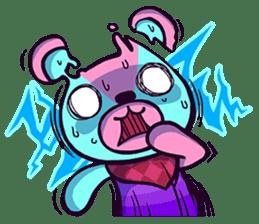 """Cyareguma"", the cool style bear sticker #303589"