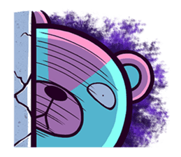 """Cyareguma"", the cool style bear sticker #303601"