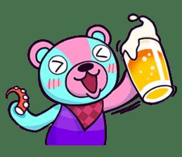 """Cyareguma"", the cool style bear sticker #303603"