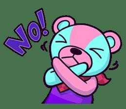 """Cyareguma"", the cool style bear sticker #303606"