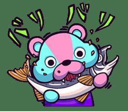 """Cyareguma"", the cool style bear sticker #303609"