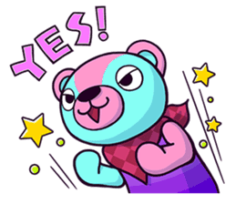 """Cyareguma"", the cool style bear sticker #303610"