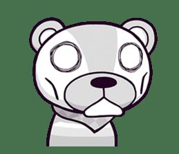 """Cyareguma"", the cool style bear sticker #303615"