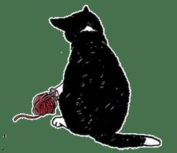 Black & White CATS sticker #303748