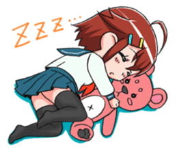 Schoolgirl X child (Ekusuko) sticker #305494