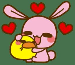 UsaHiyo and mofumofusan sticker #305809