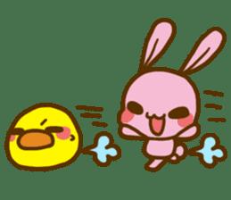 UsaHiyo and mofumofusan sticker #305810