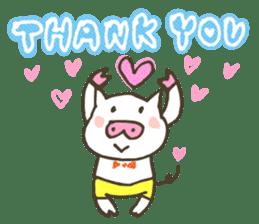 "a little pig named ""BiBiBu"" sticker #306833"