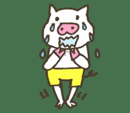 "a little pig named ""BiBiBu"" sticker #306840"