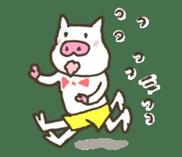 "a little pig named ""BiBiBu"" sticker #306848"