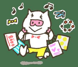 "a little pig named ""BiBiBu"" sticker #306855"