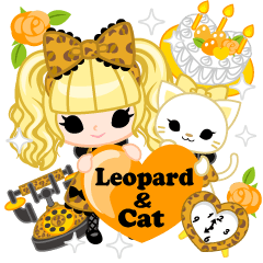 Leopard and cat